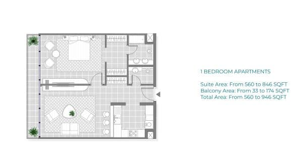 Copy of 1 Bedroom Apartment